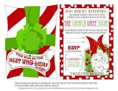 Printable Grinch Invitations