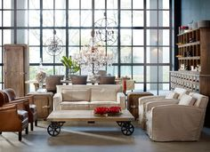 living room vintage-country style