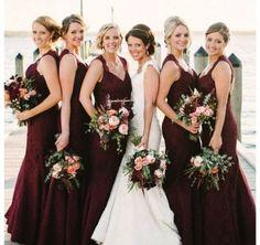 Vestidos para Madrinha de casamento cor Marsala. Parte 2