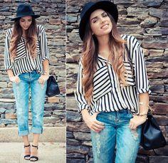 Dittos boyfriend jeans and stripes by Nany s Klozet Boyfriend Jeans fa9291e23ed