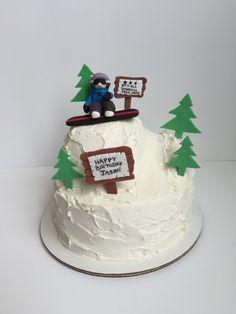 Snowboarder Cake.  Lauraloucakes.com