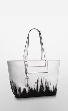 Calvin Klein | Galey Brushstroke Saffiano Leather Shopper Tote