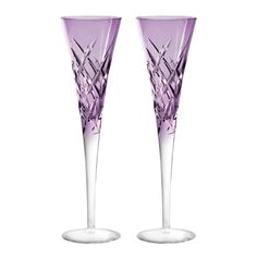 "Vera Wang Wedgwood ""Duchesse Encore"" Color Champagne Flute, Pair"