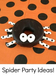 Spiders are such a fun theme for a preschool birthday party or play date!  Kids