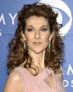 Celine-Dion-Formal-Curly-Half-Up-Hairstyle