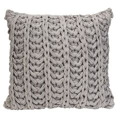39.      Crocheted cotton pillow in grey.        Product: PillowConstruction Material: 100% CottonColor: G...