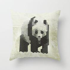 Panda - Species in danger of pixelation Throw Pillow