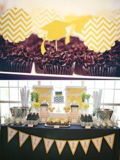 30+ Graduation Party Ideas, Invites, Menu & Favors-Pics- 2014 -  Graduation Party Ideas – Graduation Setting & Cupcakes