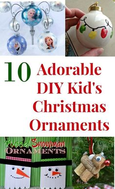 Make memories with the kids this Christmas. These DIY kids Christmas ornaments are adorable and affordable to make. Kids Christmas Ornaments, Holiday Crafts For Kids, Christmas Mom, Xmas Crafts, Diy Christmas Gifts, Diy Crafts For Kids, Holiday Fun, Christmas Ideas, Craft Ideas