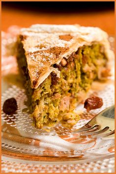 Pastilla - Moroccan sweet and savory meat pie. I had this at a great restaurant in Philly some time ago and it took my breath away. Now I need to learn how to make it for myself :)