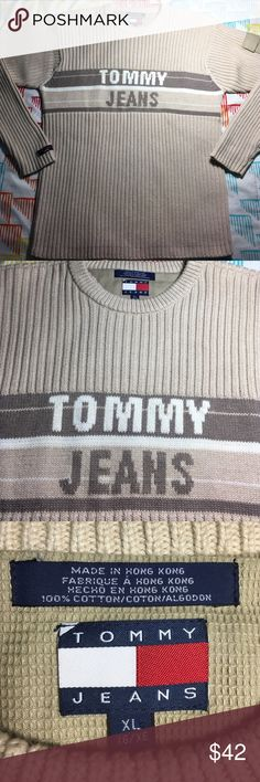Tommy Hilfiger vintage Tommy Jeans Knit Sweater Size : XL - Condition : 9.9/10 Tommy Hilfiger Sweaters Crewneck