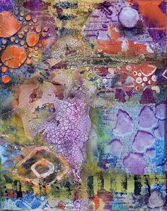 """Where ART Lives Gallery Artists Group Blog: Mixed Media Abstract Vertical Painting """"The Journe..."""