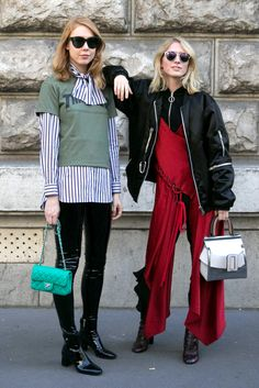 Showgoers Suited Up in Head-to-Toe Prints on Day 7 of Paris Fashion Week - Fashionista