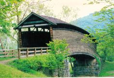 Humpback Covered Bridge located in Covington, VA.  Built in 1857.  One of few left in United States