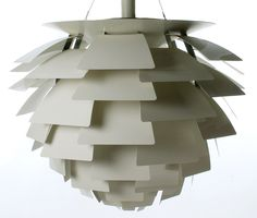 The Poul Henningsen Artichoke lamp in white enameled metal.  It also comes in copper or stainless steel.