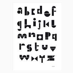 Poster - ABC black & white