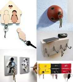 10 Practical And Funny Key Holders...
