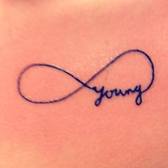 If I were ever to get a tatoo...this would be a contender! Forever young tattoo <3