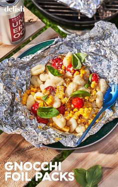 Foil Pack Gnocchi Is The No-Mess Dinner We're Making All SummerDelish Foil Packet Dinners, Foil Dinners, Foil Packets, Grilling Recipes, Cooking Recipes, Meal Recipes, Good Healthy Recipes, Vegetarian Recipes, Gnocchi Recipes