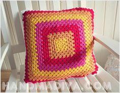 Красивая вязаная наволочка на подушку. Crochet pillowcase on the pillow