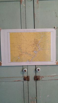 """For sale at Retrophoria.com, $15.00 - Paper Map 22"""" x 14 1/2"""" Gulf Intracoastal Waterway"""