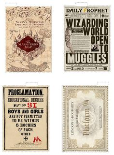 A5 Harry Potter themed top tab dividers von Trying2bBeautiful