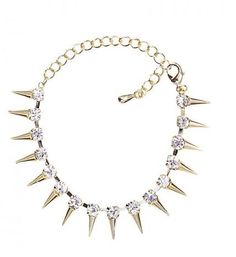 #tutuspoiled #spikebracelet #goldspikebracelet #trendyjewelry #trendymom #trendyaccessories #fall2012jewelry Trendy Accessories, Trendy Jewelry, Spike Bracelet, Kandi, Tutu, Arms, Diamond, Bracelets, Gold