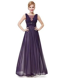 Ever Pretty Womens Sexy Open Back Long Formal Evening Party Dress 8 US  Purple -- b57e4c4ed635