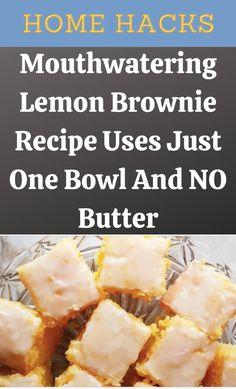 Lemon Desserts, Lemon Recipes, Just Desserts, Sweet Recipes, Delicious Desserts, Life Hacks Home, Lemon Brownies, How Sweet Eats, Brownie Recipes