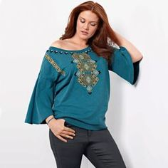 Ethnic Embroidered Sweatshirt TAILLISSIME - Sweatshirts & Hoodies
