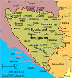 Map of Bosnia and Herzegovina. Capital: Sarajevo. (2000) This gives you a reference of where Sarajevo is. Very close to the coast, yet not far from the mountains. Zlata led a peaceful and fortunate childhood before the war, visiting the sea in the summer and going to the mountains to ski in the winter. The war rocked her world and changed everything she thought she knew about life and humanity.