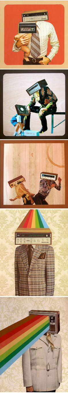 netherland / David van Alphen    art / design / collage / illustration / graphic design / rainbow / vintage / retro /