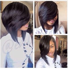 Bob hairstyle... I just luv luv luv this hairstyle, with the right curls and face beat; every head will be on a swivel
