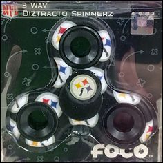 This Pittsburg Steeler Fidget Spinner Back Labeled display hook concept positions product and price information to the rear of the merchandise.