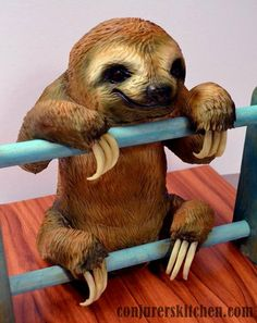 Baby sloth cake Cake by Annabeldvp