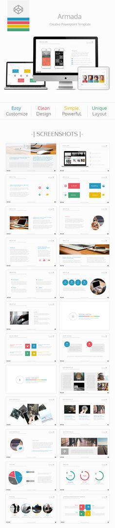 Armada Powerpoint Template (PowerPoint Templates) Preview #Powerpoint #Powerpoint_Template #Presentation