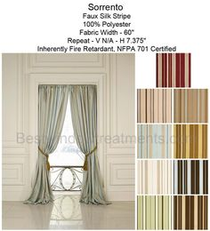 Sorrento Stripe Curtain Drapery Panel