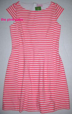 LILLY PULITZER Briella SM Splash Pink CHIN CHIN Stripe Stretchy Dress NWT S #LillyPulitzer #Shift #Casual