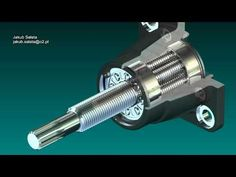 A planetary roller screw converts rotary motion to linear motion. Autodesk Inventor, Linear Actuator, Science And Technology, Rotary, Engine, Tools, Youtube, Homemade Tools, Homemade