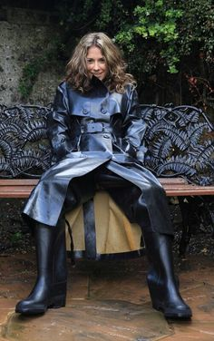 Rubber lined trenchcoat