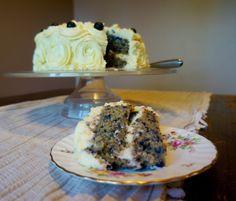 Lusciously Lemony Blueberry Cake | KitchenSpells