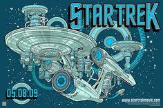 Poster for the JJ. Abrams star trek movie reBoot
