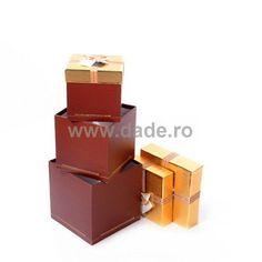 Set 4 cutii de cadou aurii-big Usb Flash Drive, Container, Usb Drive