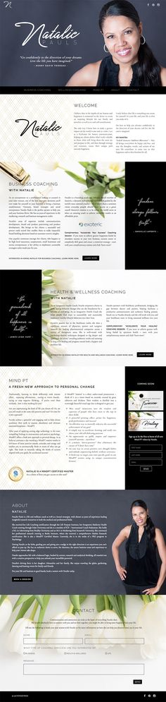 One Page Website Design for Natalie Pauls Business and Wellness Coach  by Julie Harris Design.