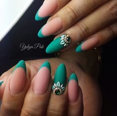 50 Beautiful and Unique Green Nail Art Designs Ideas - EcstasyCoffee