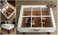 Upcycled Hinged Window Table DIY http://ewoodworkingprojects.com/creating-picnic-table/