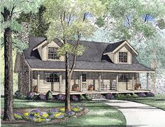 House Plan 61133 | #Log #HousePlan with 1810 Sq. Ft., 3 Bedrooms, 3 Bathrooms at FamilyHomePlans.com