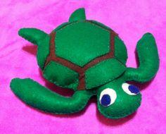 Felt Turtle Pillow - Felt Turtle Stuffed Animal - Handmade via Etsy