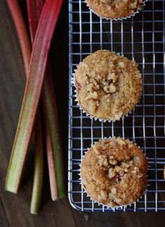 Rhubarb Muffins Apple sauce sub for oil Convection 13min