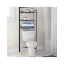 Bathroom Storage Organizer Bronze Metal Over the Rack Toilet Cabinet Towel Shelf